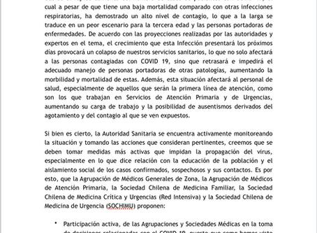 Declaración Conjunta Sociedades por COVID-19
