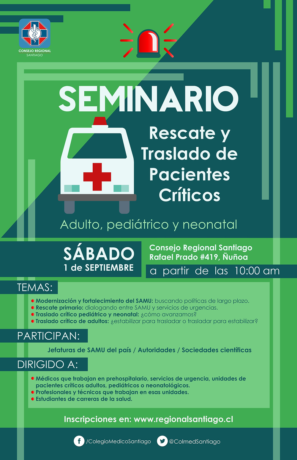 Seminario: Rescate y Traslado de Pacientes Críticos
