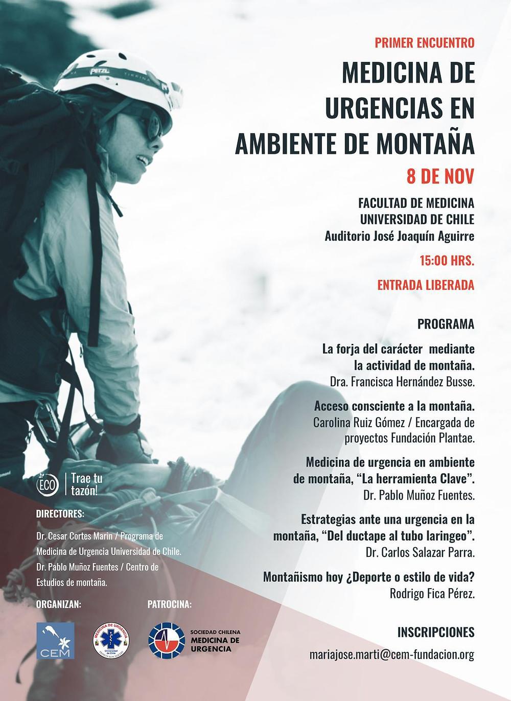 Primer Encuentro Medicina de Urgencias en ambiente de montaña