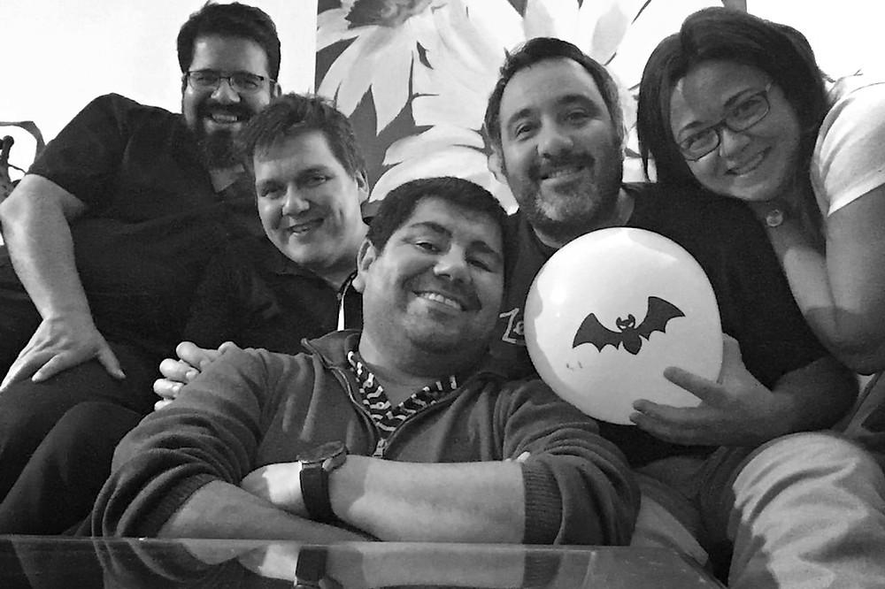 el equipo de #ChileEM reunido planificando la reunión de diciembre!