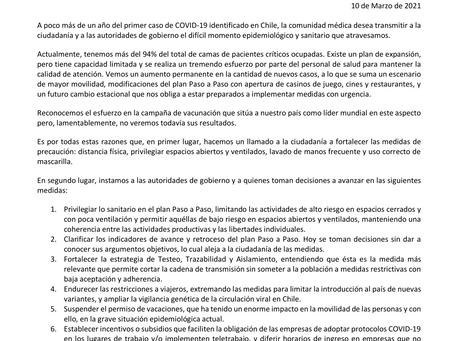 Comunidad médica alerta al país sobre fragilidad de situación sanitaria