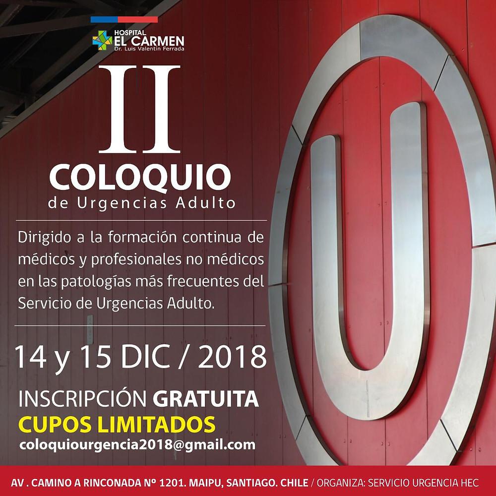 II Coloquio de Urgencias Adulto, Hospital El Carmen