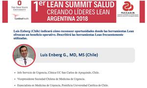 Dr. Luis Enberg en el 1er Lean Summit Salud