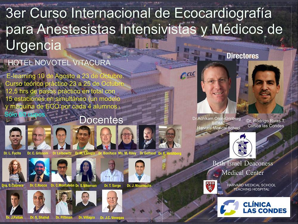 Póster 3er Curso Internacional de Ecocardiografía para Anestesistas, Intensivistas y Médicos de Urgencia