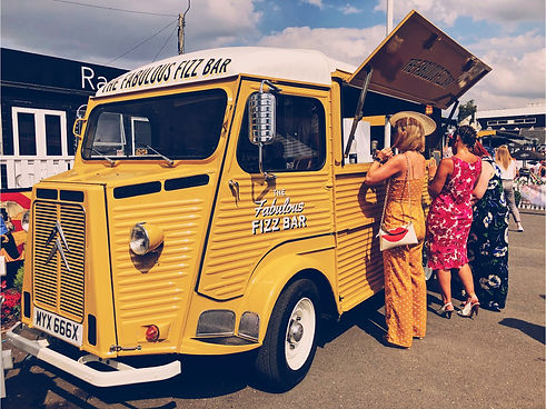 Citroen Hy mobile bar at Uttoxeter Racecourse Ladies Day