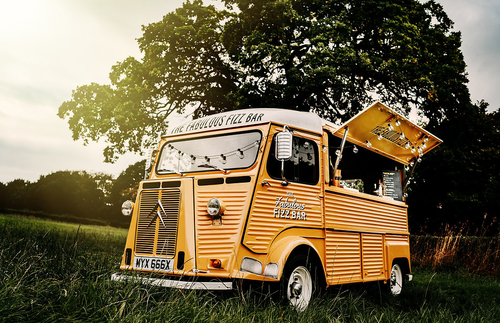 Vintage Citroen HY Van mobile bar