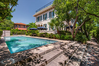 Relaxing pool on property