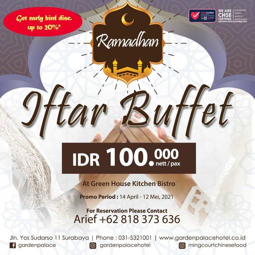 Iftar Buffet by Garden Palace Hotel Surabaya
