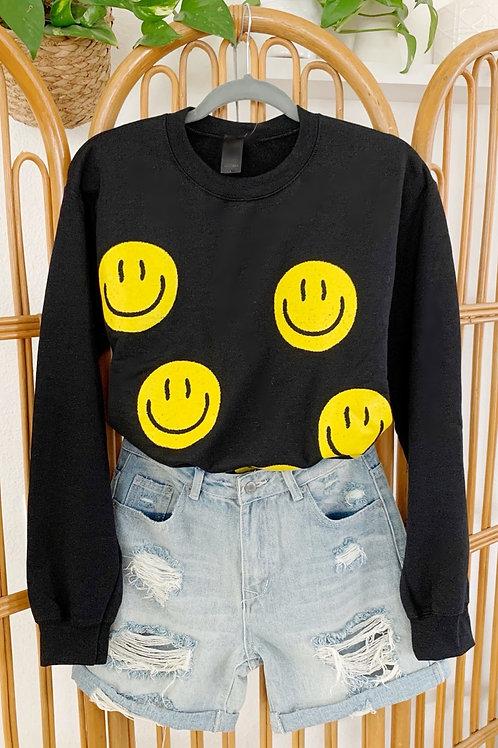 All-Over Smiley Sweatshirt