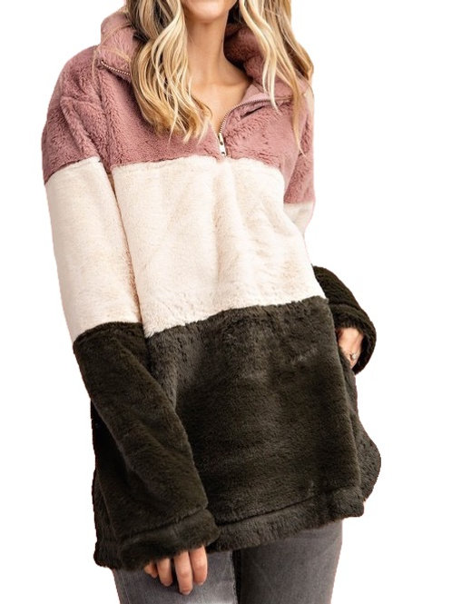 Cozy Color Block Pullover