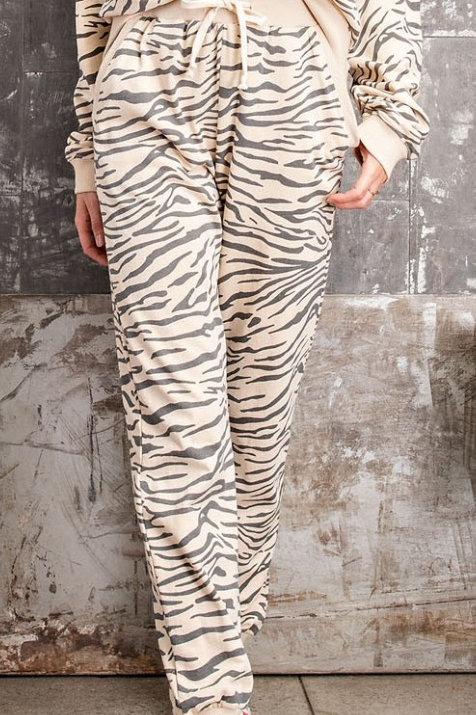 Zebra Print Sweatpants