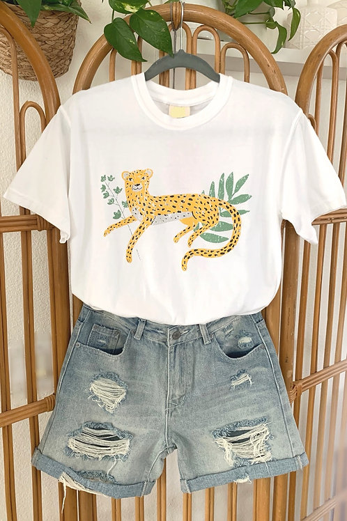 Plant Leopard Graphic Tee