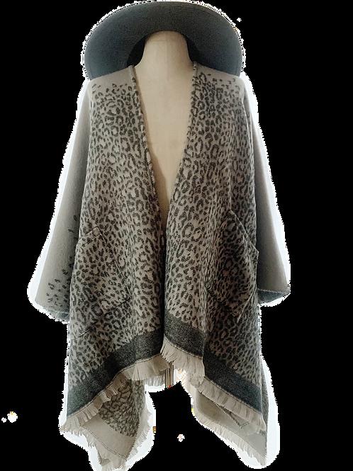 Leopard Print Ruana