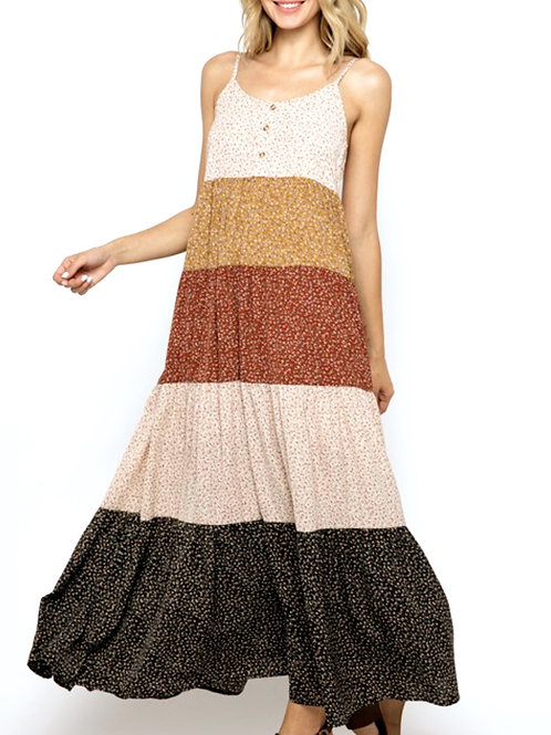 HARVEST TIERED MAXI DRESS