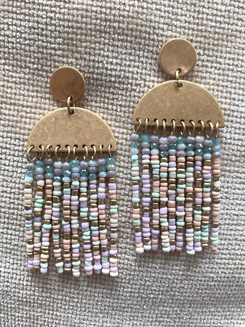 Sea beaded Earrings