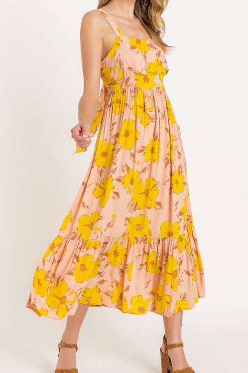 LUSH FLOWER PRINT MAXI DRESS