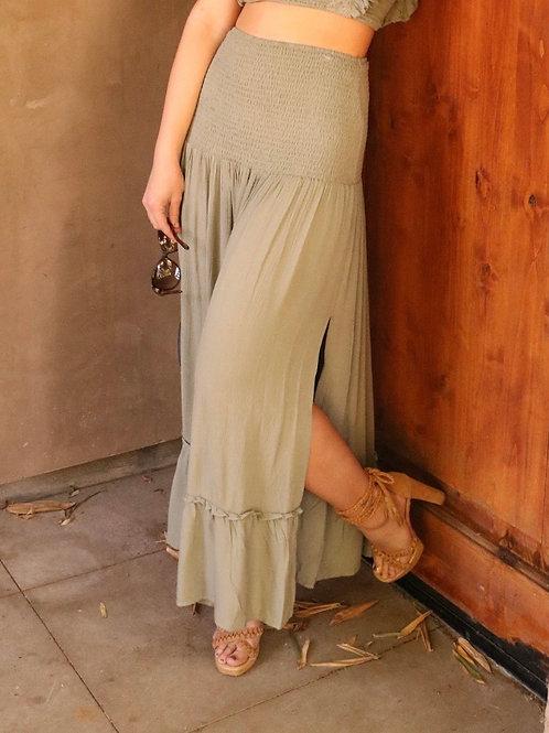 Olive Isla Maxi skirt