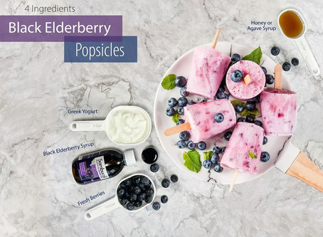 BLACK ELDERBERRY POPSICLES!