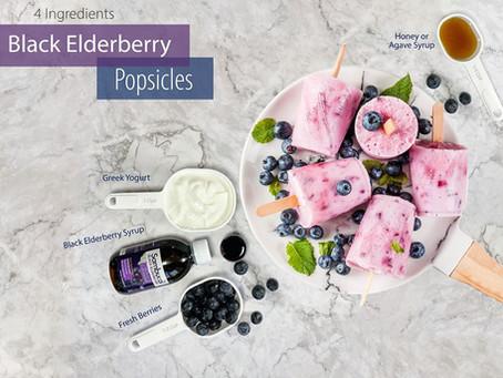 BLACK ELDERBERRY POPSICLES!