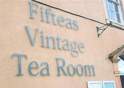 Fifteas Tearoom Front Sign
