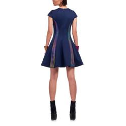 12-3 _女 優雅 洋裝 藍