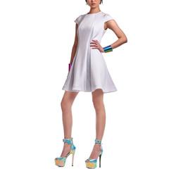 14 -2 _女 優雅 洋裝 白
