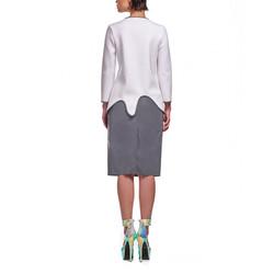 8-4_女 白 水top + 白反光窄裙