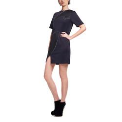 10-4 _女包邊 網布 洋裝