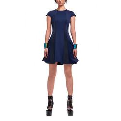 12-1_女 優雅 洋裝 藍