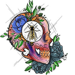 Skull/Wasp