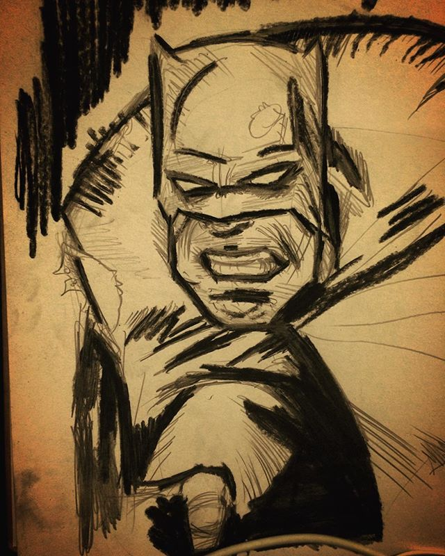 Progress #DC #Batman #sketch #linedrawing #FrankMiller #thedarkknight