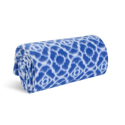 Cobalt Trellis Signature Microfleece Blanket