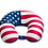 Thumbnail: USA Flag Fiber Fill Neck Pillow
