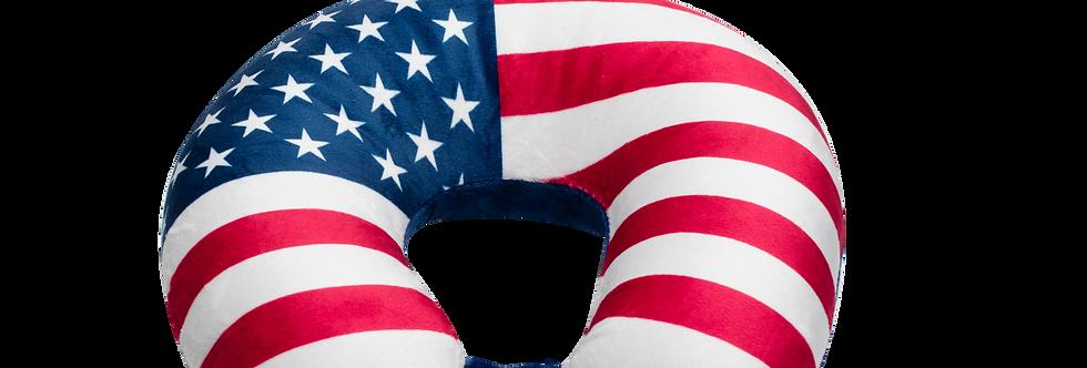 USA Flag Fiber Fill Neck Pillow