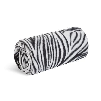 Zebra Signature Microfleece Blanket