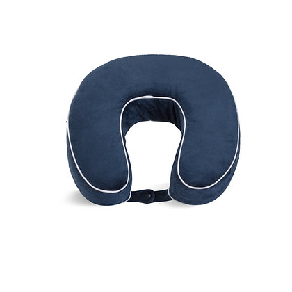 Full Color Piped Memory Foam Neck Pillow
