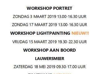 Workshop agenda 2019