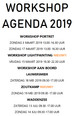 Workshop agenda 2019