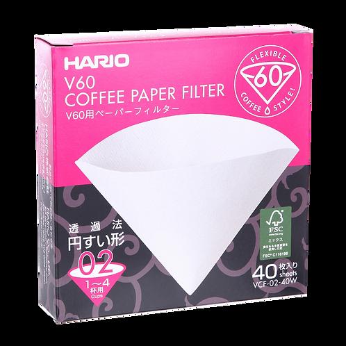 Фильтры для Hario V60 2 cup (02), 40 шт