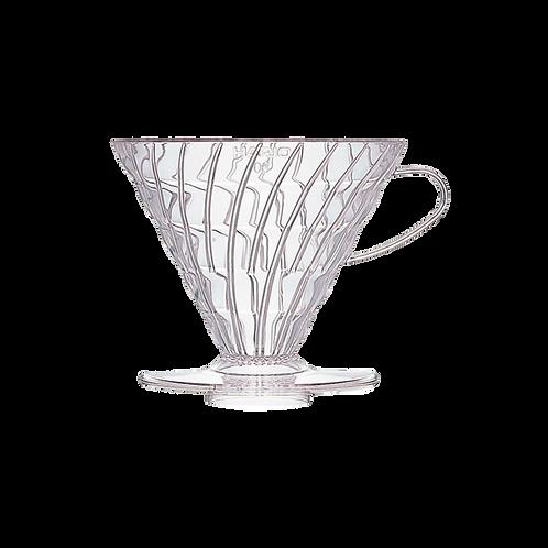 Воронка пластиковая белая Hario VD-02 Glass