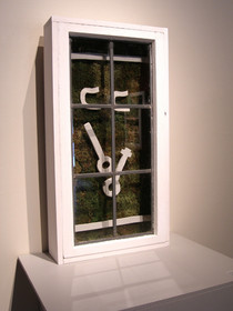 Christian Bernard Singer Untitled 5, 2007 From Cabinets of Curiosities series Moss, clay, found windows, wood