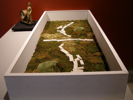 Christian Bernard Singer Untitled 12, 2008 From Cabinets of Curiosities series Moss, clay, found clock, wood