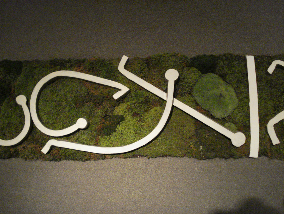 Christian Bernard Singer Chaconne de Paeton, 2007 Mosses, earth, unfired clay, engobe and video MacKenzie Art Gallery, Regina, SK