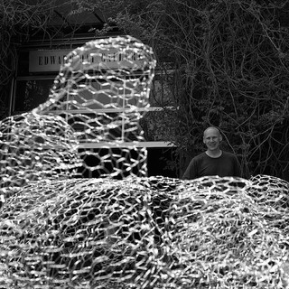 Mounded Veils, 2015 Installation for the courtyard shared by the Edward Day Gallery and the Museum of Contemporary Canadian Art (MOCCA) Chicken wire Dimensions variable Photo: Paul Delaney