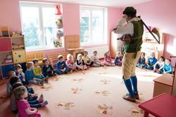 Dudácké představení u nás ve školce