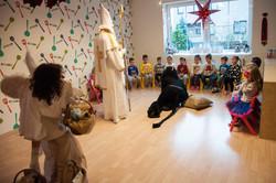 Mikuláš, čert a anděl ve školce