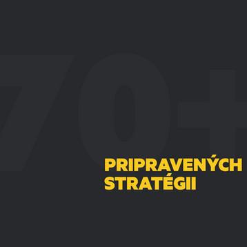 Počas nášho fungovania sme pre našich klientov pripravili viac ako 70 rôznych stratégii s B2B a B2C segmentu.