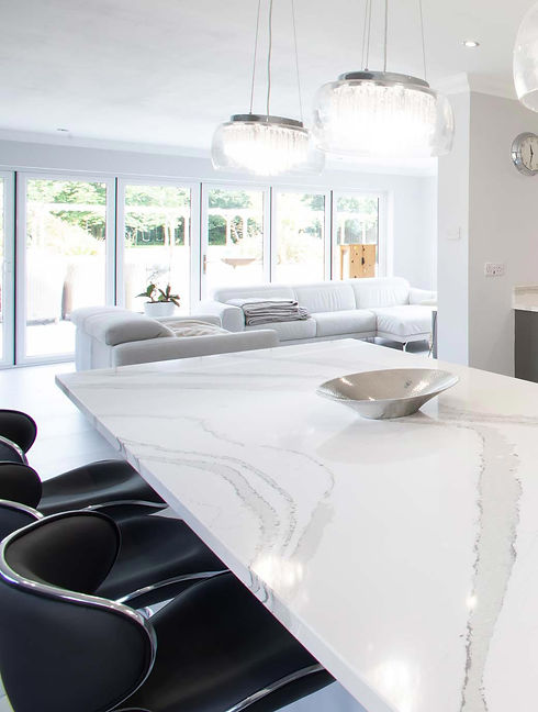 kitchen dining table in marble