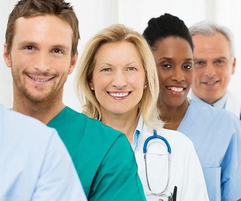 Four healthcare staff