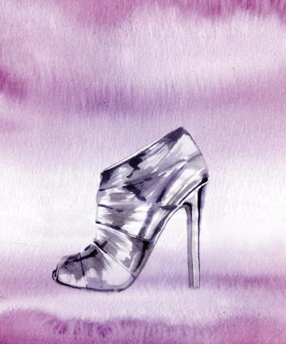 Nina Ricci Silver Shoe